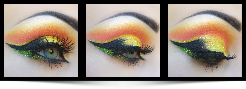 Banana eyeshadow makeupartist Anna