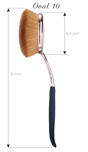 Ovala borstar - core cosmetics