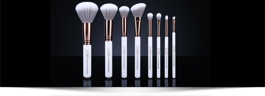 Rose Gold Makeup Brushes CORE cosmetics